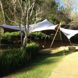 stretch tent structure Permanent Install