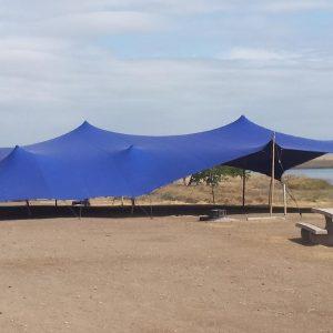Stretch tent Blue