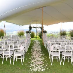 Hire stretch tent wedding white
