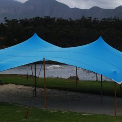 Stretch tent bright blue