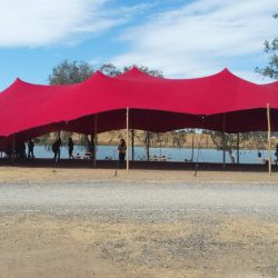 Stretch tent Red