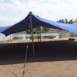 Stretch tent blue