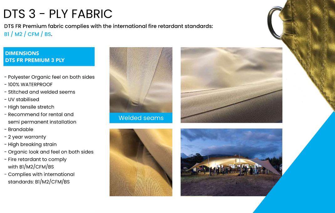 Stretch tent fabric